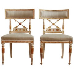 Ephraim Ståhl, Late Gustavian / Early Empire Chairs, Pair, Circa 1800