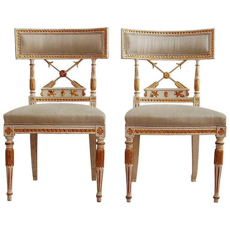 Ephraim Ståhl, Late Gustavian / Early Empire Chairs, Pair, Circa 1800 For Sale