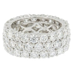 Epic 18 Karat White Gold Triple-Row Diamond Ring