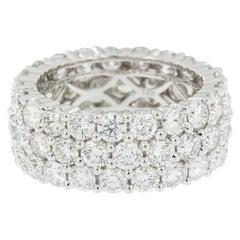 Epic 18 Karat White Gold Triple-Row Diamond Ring