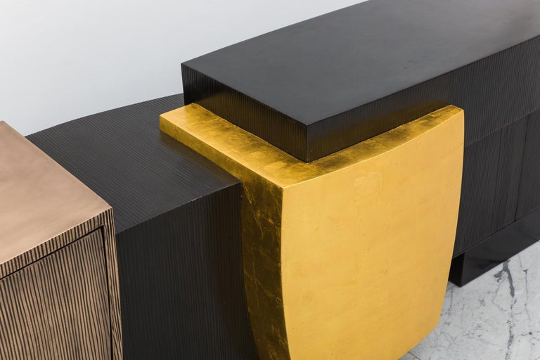 Since joining Todd Merrill Studio in 2013, Gary Magakis has built a cult-like following among top designers and collectors for his dynamic studio-driven metal furniture composed of seemingly simple geometric shapes.  When creating his bronze and