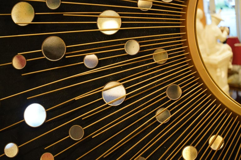 North American Epic Star Burst Constellation Mirror by Thomas Pheasant for Baker Furniture Co.