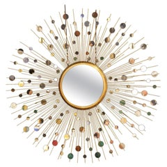 Epic Star Burst Constellation Mirror by Thomas Pheasant for Baker Furniture Co.