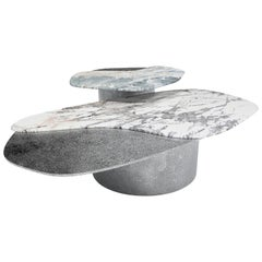 """Epicure IV"" Modern Center Table ft. Liquid Nickel & Quartzite by Grzegorz Majka"