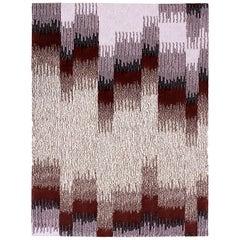 Epoca Due, Extra Large Rug, Oak/Bordeaux 100% Wool by Portego