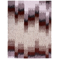 Epoca Due, Small Rug, Oak/Bordeaux 100% Wool by Portego