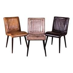 Epsom Vintage Style Leather Chair Range, 20th Century