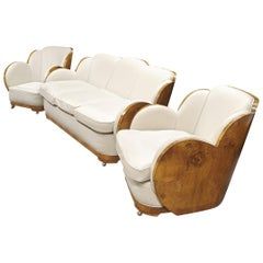 Epstein Art Deco Cloud Lounge Suite Sofa and Armchairs