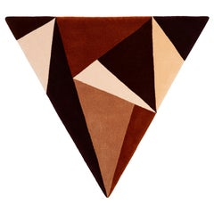 """Equality"" Irish Wool Beige, Brown, Ochre Rug or Tapestry by Rhyme Studio"