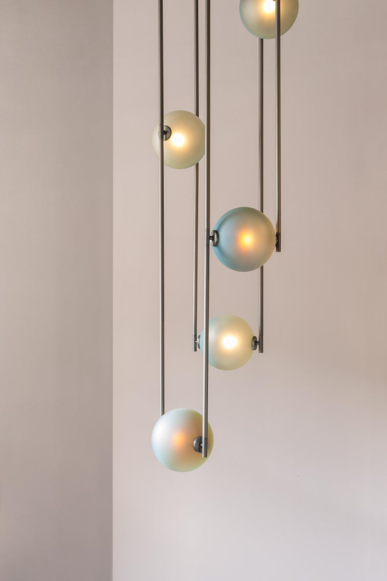 American Equalizer 4 Pieces Linear Pendant Light by Ladies & Gentlemen Studio For Sale