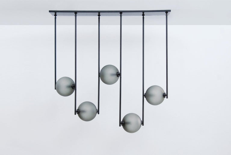 Contemporary Equalizer 4 Pieces Linear Pendant Light by Ladies & Gentlemen Studio For Sale