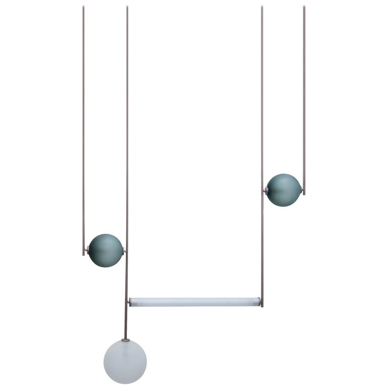 Equalizer 4 Pieces Linear Pendant Light by Ladies & Gentlemen Studio For Sale