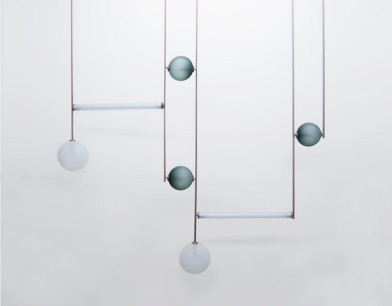 Aluminum Equalizer 5 Pieces Pendant Light by Ladies & Gentlemen Studio For Sale