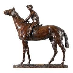 Equestrian Bronze by Leon Bureau, 1866-1906