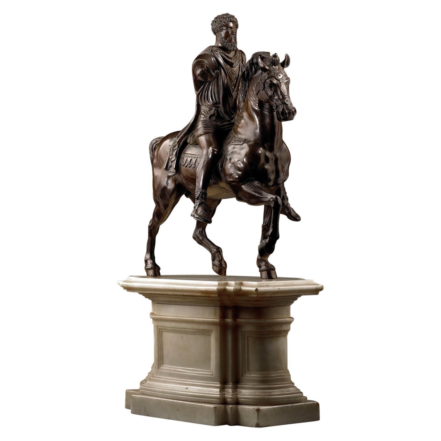 Equestrian Bronze Statue of Roman Emperor Marcus Aurelius