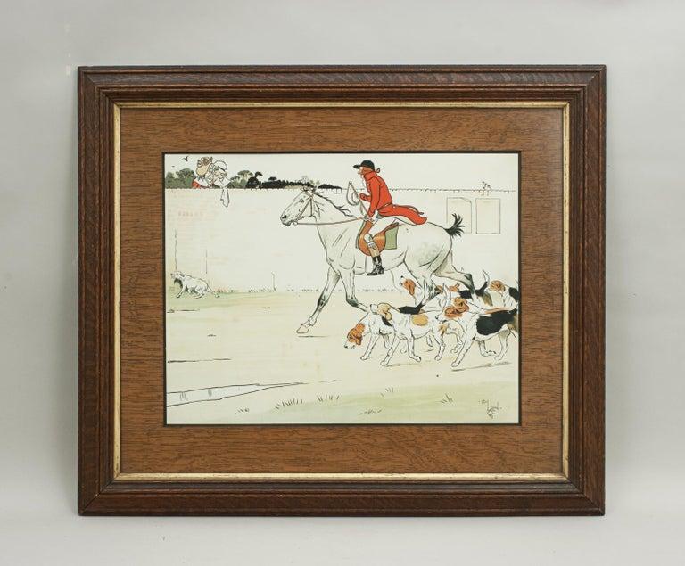 Equestrian Fox Hunting Print, Admiration, Cecikl Aldin For Sale 6