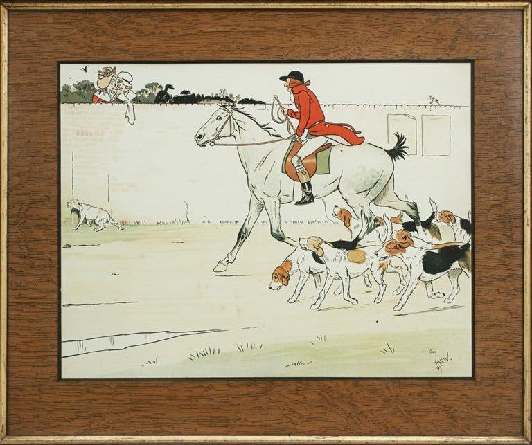 Sporting Art Equestrian Fox Hunting Print, Admiration, Cecikl Aldin For Sale