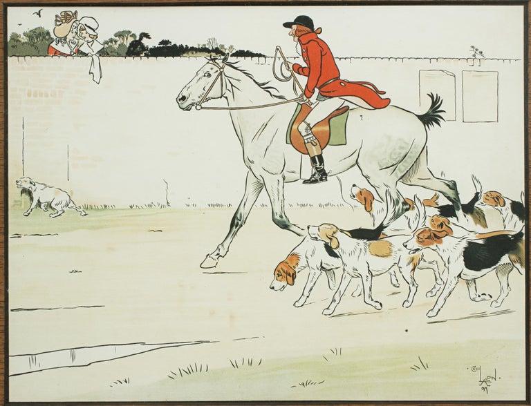 English Equestrian Fox Hunting Print, Admiration, Cecikl Aldin For Sale