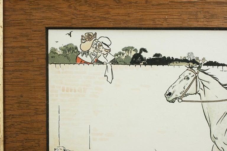 Late 19th Century Equestrian Fox Hunting Print, Admiration, Cecikl Aldin For Sale