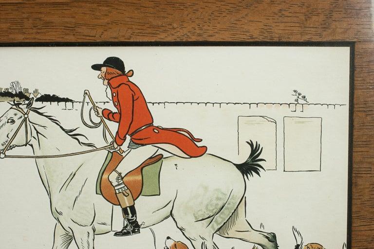 Oak Equestrian Fox Hunting Print, Admiration, Cecikl Aldin For Sale