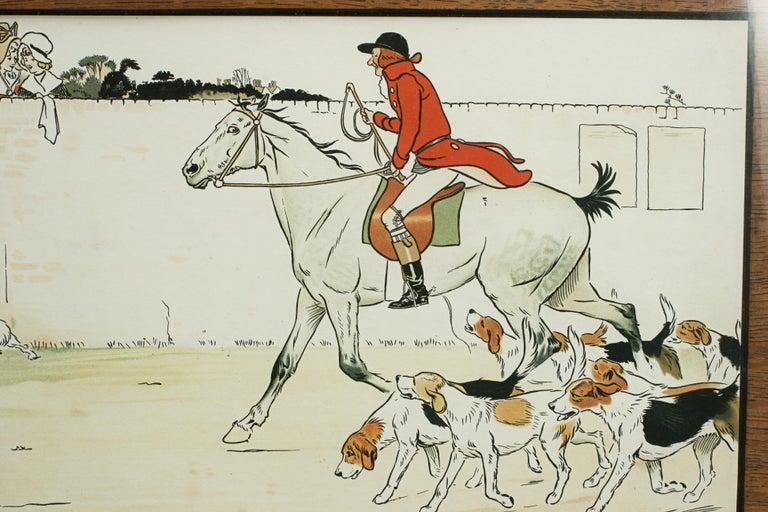 Equestrian Fox Hunting Print, Admiration, Cecikl Aldin For Sale 1