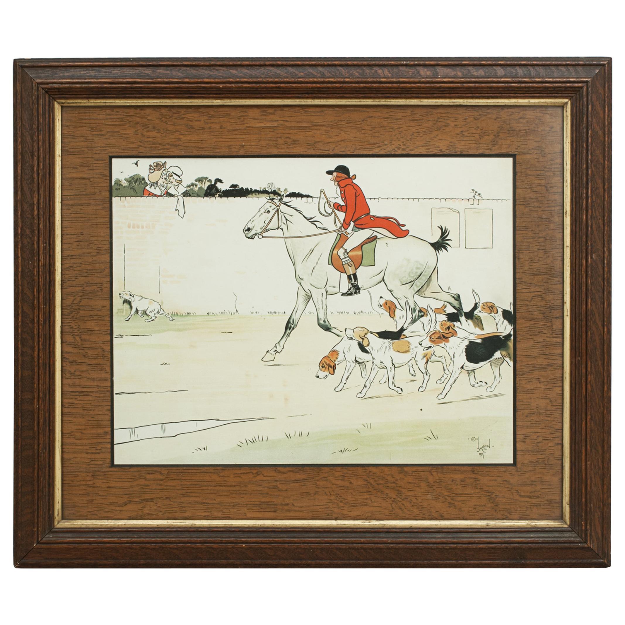 Equestrian Fox Hunting Print, Admiration, Cecikl Aldin