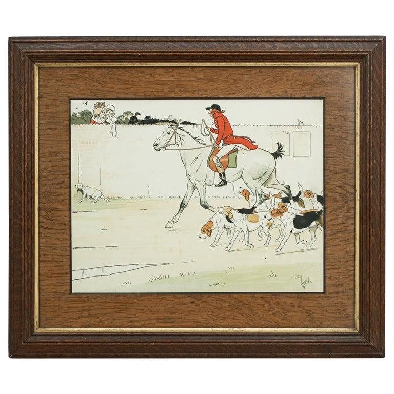 Equestrian Fox Hunting Print, Admiration, Cecikl Aldin For Sale