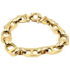 Equestrian Link 14 Karat Yellow Gold Bracelet