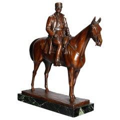 Equestrian Portrait Bronze Military Sculpture Marshal Foch after Malissard