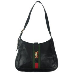 Equestrian Style Italian Black Leather Handbag For Neiman Marcus, C.1970