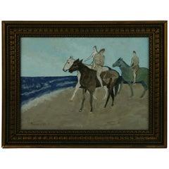 Equestrian Surreal Bareback Riders Landscape