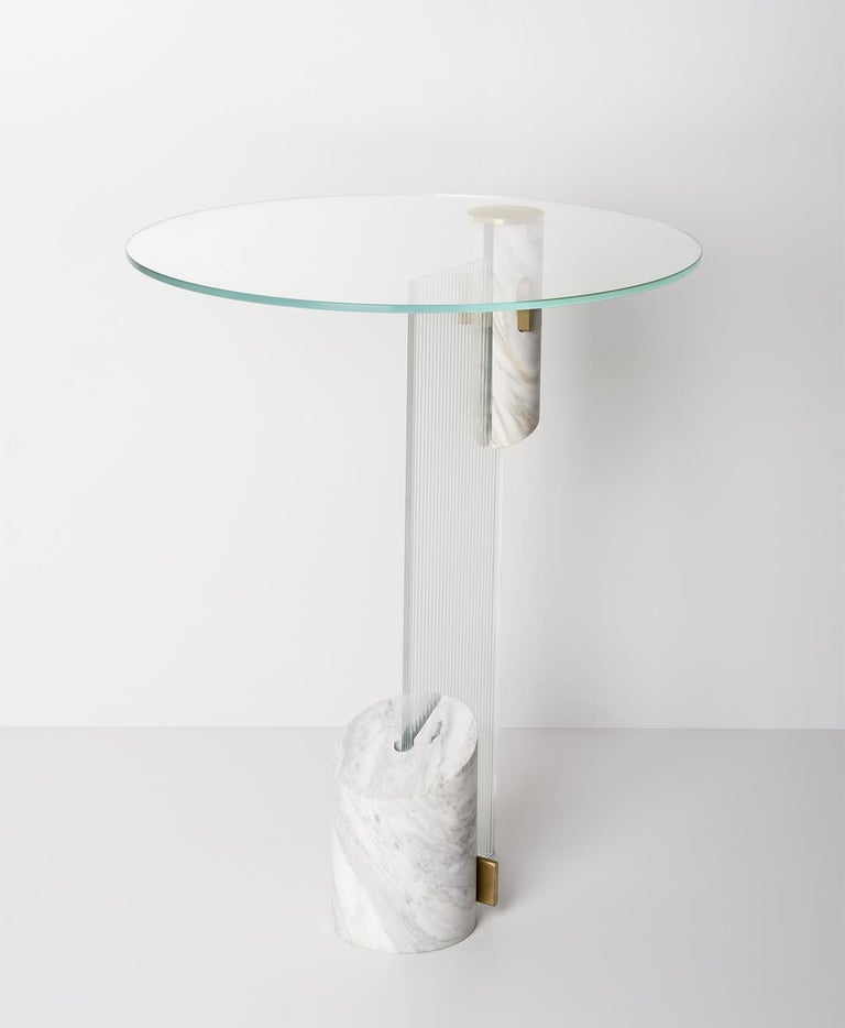 Contemporary Equilibrio Side Table by Andrea Bonini For Sale