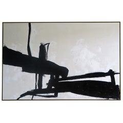 """Equilibrium"" Black & White Original Painting by Karina Gentinetta 9 ft. x 6 ft."