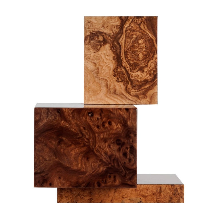 Wood Equilibrium Console, Limited Edition of 7, Contemporary Design Table For Sale