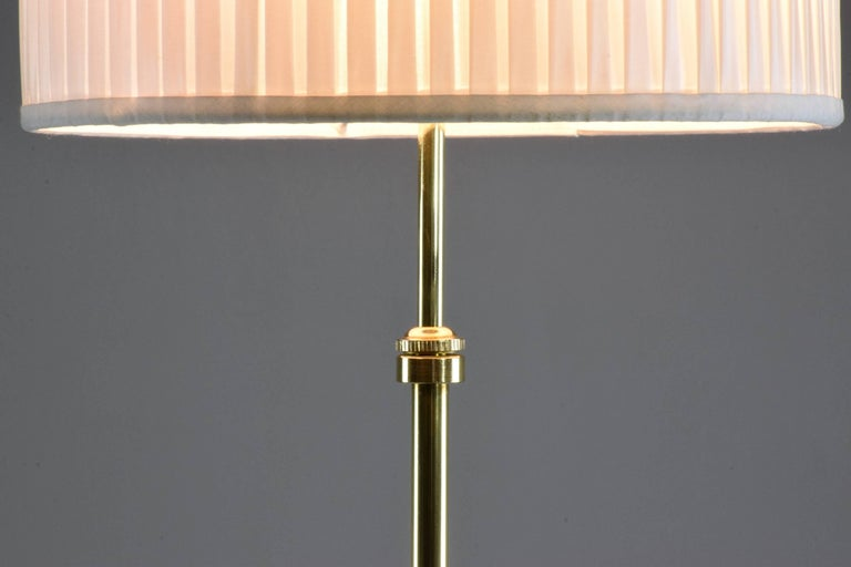 Modern Equilibrium-I Contemporary Handcrafted Adjustable Brass Floor Lamp For Sale