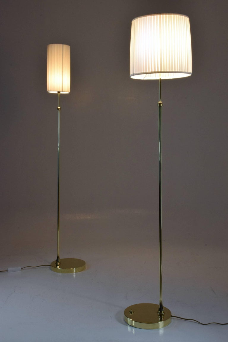Equilibrium-I Contemporary Handcrafted Adjustable Brass Floor Lamp For Sale 1