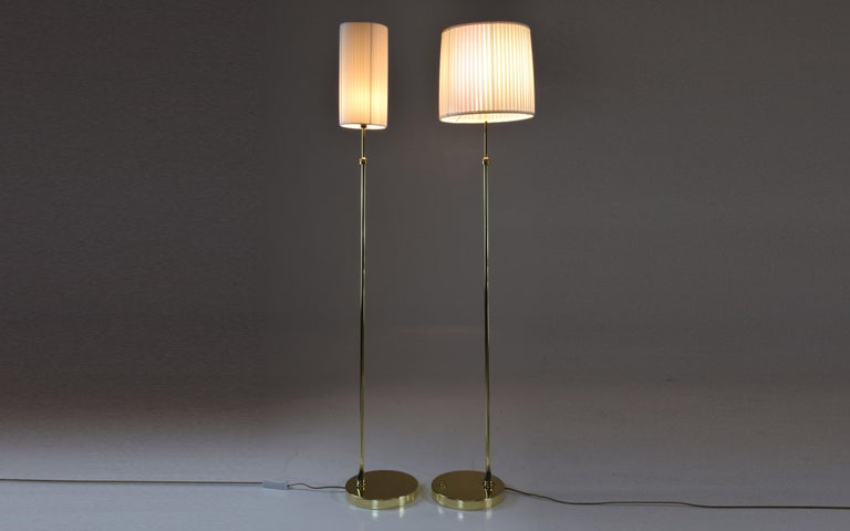 Equilibrium-I Contemporary Handcrafted Adjustable Brass Floor Lamp For Sale 3