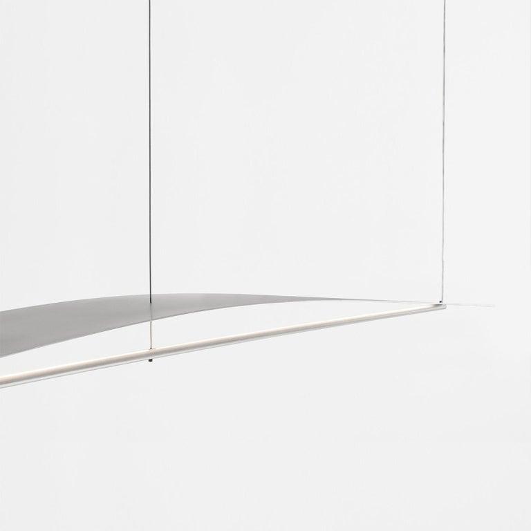 Modern Equilibrium Pendant Light in Aluminium by Guglielmo Poletti For Sale