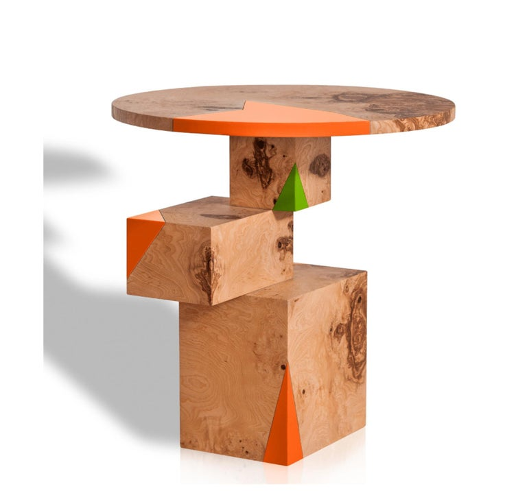 Wood Equilibrium Pop Console, Limited Edition of 7, Contemporary Design Table For Sale