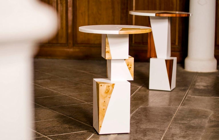Product description: The handmade Equilibrium side table confers originality and freshness into your home. Part of the Equilibrium Colors collection, it is influenced by trends in high-fashion melded with inspiration from the natural world, the
