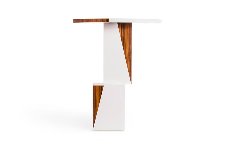 Equilibrium Pop White Console, Limited Edition of 7, Contemporary Design Table In New Condition For Sale In , Brunnthal
