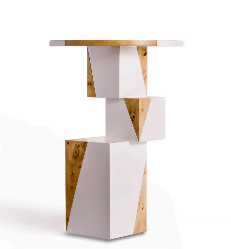 Equilibrium Pop White Console, Limited Edition of 7, Contemporary Design Table For Sale 1