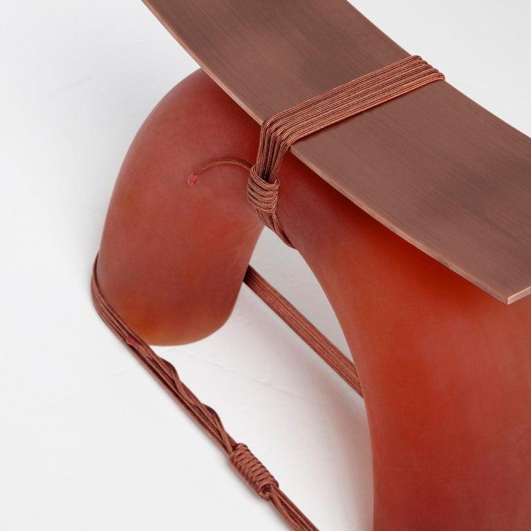 Italian Equilibrium Stool in Copper by Guglielmo Poletti For Sale