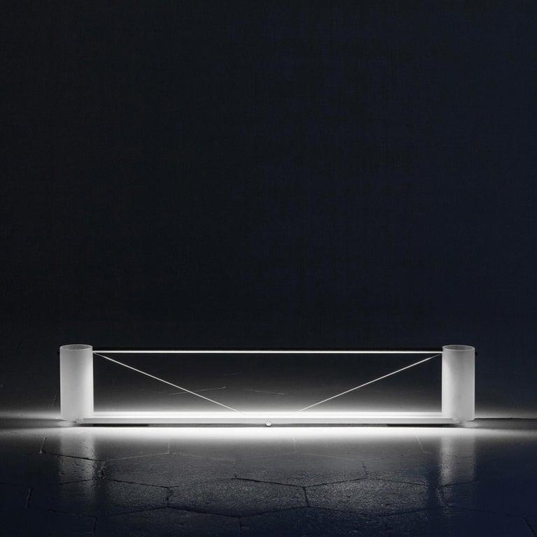 Italian Equilibrium Table Light in Aluminum by Guglielmo Poletti For Sale