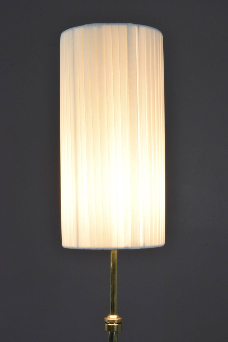 Equilibrium-I Contemporary Handcrafted Adjustable Brass Floor Lamp For Sale 4