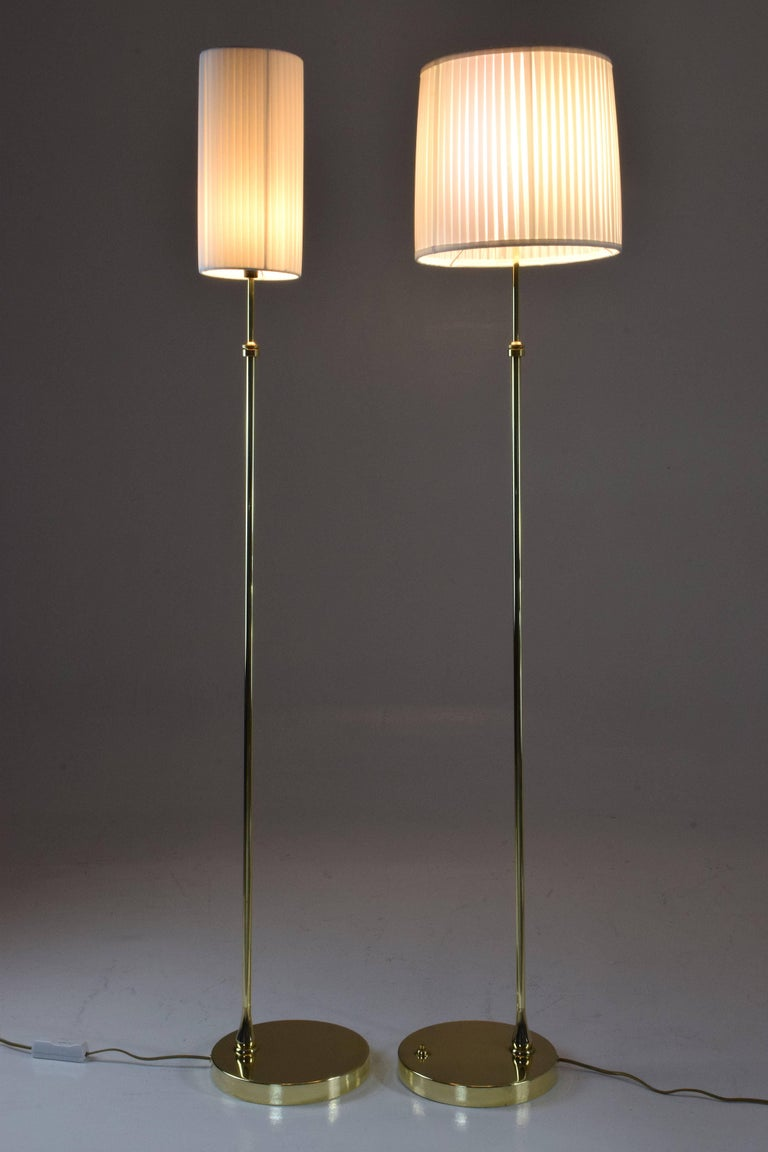 French Equilibrium-I Contemporary Handcrafted Adjustable Brass Floor Lamp For Sale