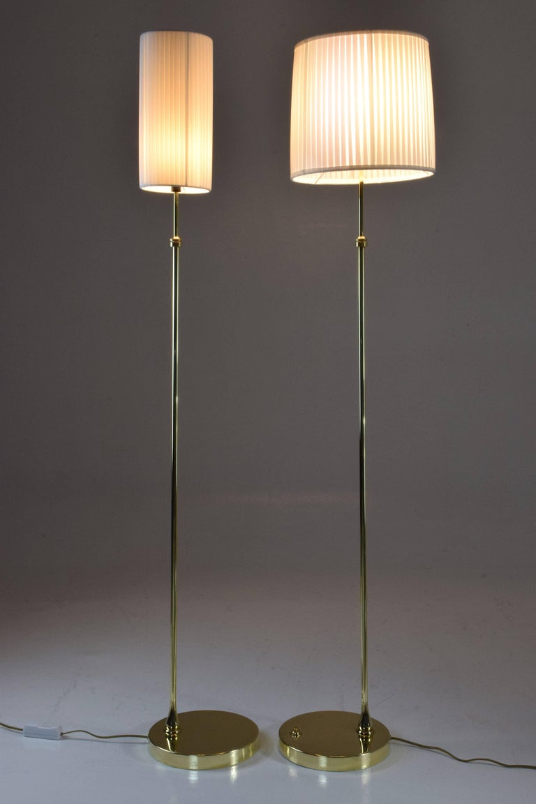 Equilibrium-I Contemporary Handcrafted Adjustable Brass Floor Lamp For Sale 2