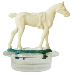 Equine Horse and Horseshoe Trinket Jewelry Dish Ashtray