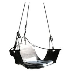 Equus Swing - strapping leather, powder coated steel & nylon rope