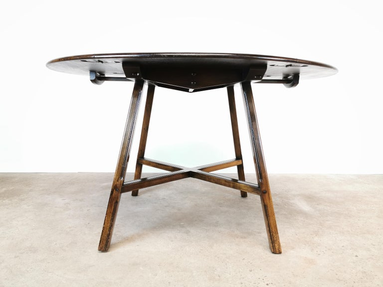 Ercol Old Colonial Drop Leaf Elm Beech Dining Table